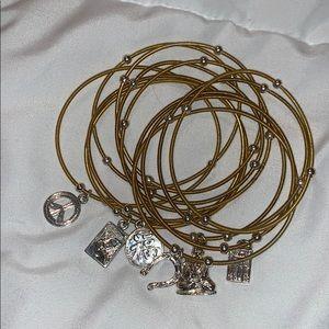 Bundle of charm bracelets